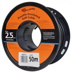 Câble de terre ø2,5mm (50 mètre) - 35 Ohm/1km Mise à la terre