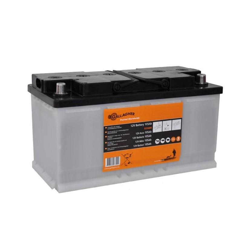 Batterie 12V (105Ah) Batteries de clôtures électriques