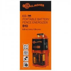 Electrificateur/poste de clôture Gallagher piles B10 (9V - 0,1 J) Electrificateurs sur piles
