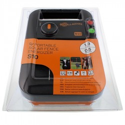 Electrificateur/poste de clôture Gallagher solaire S10 avec batterie (6V - 0,10 J) Electrificateurs énergie solaire