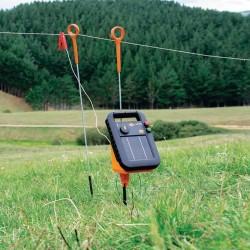 Electrificateur/poste de clôture Gallagher solaire S20 avec batterie et pied de support (6V - 0,2 J) Electrificateurs énergie...