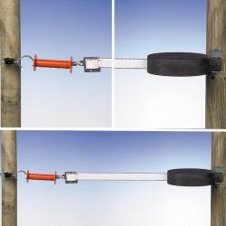 Enrouleur de rappel 15m blanc Portes de clôtures