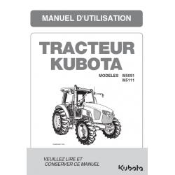 Manuel d'utilisateur Kubota M5001 DTHQ Manuels pour tracteurs