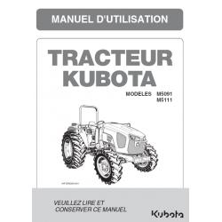 Manuel d'utilisateur Kubota M5001 DTH Manuels pour tracteurs