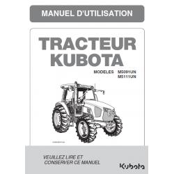 Manuel d'utilisateur Kubota M5001 Narrow Manuels pour tracteurs