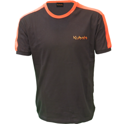 T-shirt noir/orange Kubota T-shirt