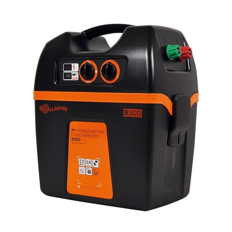 Electrificateur/poste de clôture Gallagher batterie B300 (12V - 2,6 J) Electrificateurs sur batterie