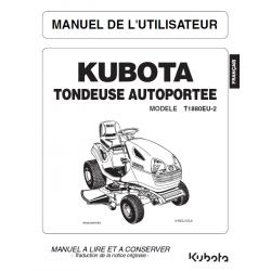 MANUEL D'UTILISATEUR TONDEUSE AUTOPORTÉE KUBOTA T1880EU-2 Manuels espaces verts
