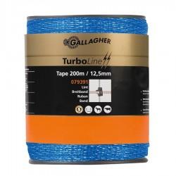 Ruban TurboLine 12,5mm bleu 200m Fil, cordon, barbelé