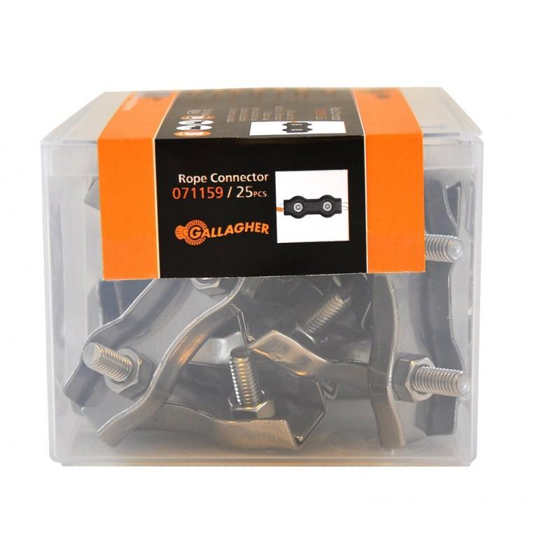 Connecteur cordon inox (25 pcs) Connecteurs et tendeurs