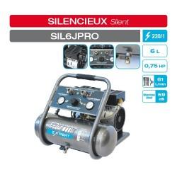 Compresseur d'air silencieux 6L Compresseurs