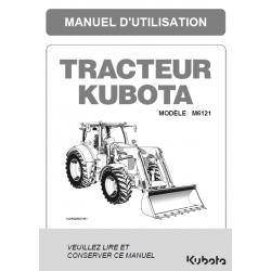 MANUEL D'UTILISATEUR KUBOTA M6121 Manuels pour tracteurs