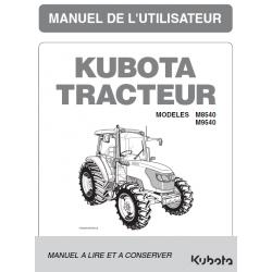 MANUEL D'UTILISATEUR KUBOTA M8540, M9540 DTHQ Manuels pour tracteurs