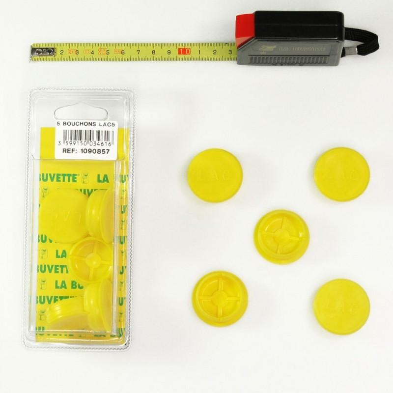 5 bouchons (jaunes) LAC 5 Pièces pour abreuvoirs