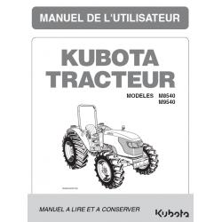 MANUEL D'UTILISATEUR KUBOTA M8540, M9540 DTH Manuels pour tracteurs