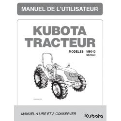 MANUEL D'UTILISATEUR KUBOTA M6040, M7040 DTH Manuels pour tracteurs