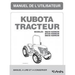 MANUEL D'UTILISATEUR KUBOTA M6040, M7040, M8540 DTN Manuels pour tracteurs