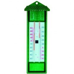 Thermomètre extérieur mini maxi sans mercure vert Météorologie