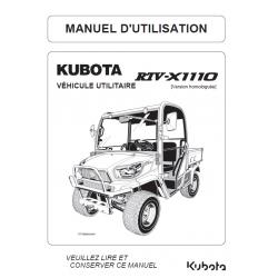 Manuel d'utilisateur Kubota RTV-X1110 Manuels véhicules utilitaires