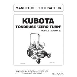 Manuel d'utilisateur tondeuses Kubota ZD1211R-EU Manuels espaces verts