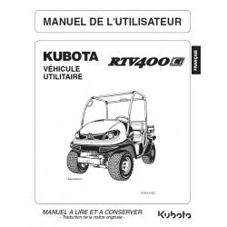 MANUEL D'UTILISATEUR KUBOTA RTV400Ci Manuels véhicules utilitaires