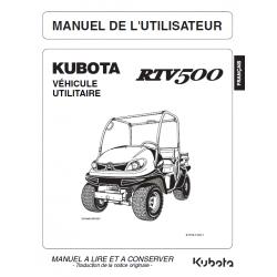 MANUEL D'UTILISATEUR KUBOTA RTV500 Manuels véhicules utilitaires
