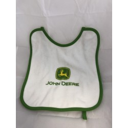 Bavoir John Deere logo vert Goodies