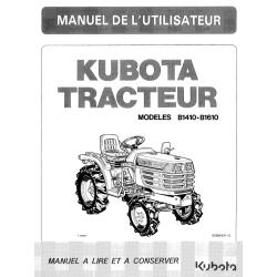 Manuel d'utilisateur Kubota B1410, B1610 Manuels espaces verts