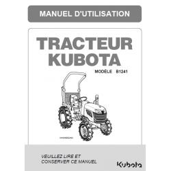 Manuel d'utilisateur Kubota B1241 Manuels espaces verts