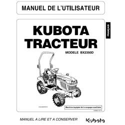 Manuel d'utilisateur tracteur Kubota BX2350D Manuels espaces verts
