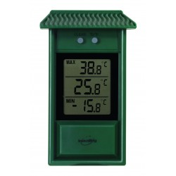 Thermomètre digital mini maxi vert Météorologie