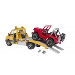 Camion de dépannage MERCEDES BENZ avec treuil et Jeep Camions miniatures