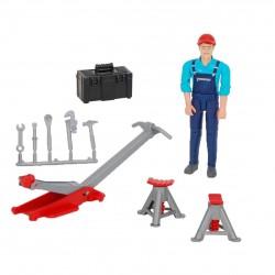 Set mécanicien Bworld avec figurine et accessoires Accessoires miniatures
