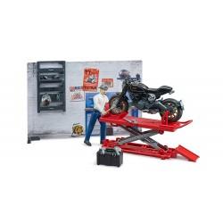 Set mécanicien Bworld avec outillage moto Accessoires miniatures