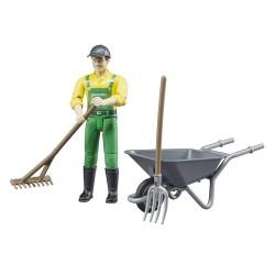 Set figurine fermier Accessoires miniatures