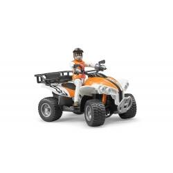 Quad orange avec figurine Accessoires miniatures