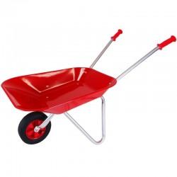 Brouette rouge métal avec pneu renforcé Accessoires miniatures