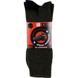 Chaussettes Namur noires (2 paires) Chaussettes