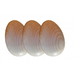 Oeufs factices pour poules en bois (3 pcs) Accessoires basse-cour