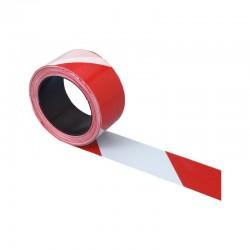Ruban de signalisation diagonal rouge/blanc Signalisation