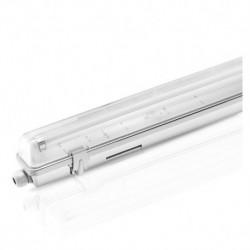 Boîtier étanche LED sans ballast pour 1 tube T8 de 1500 MM 58W MAX Eclairage intérieur