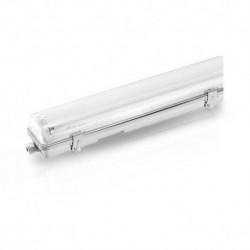 Boîtier étanche LED sans ballast pour 2 tubes T8 de 1500 MM 58W MAX Eclairage intérieur