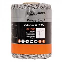 Vidoflex 6 (blanc, 200 mètre) Fil, cordon, barbelé