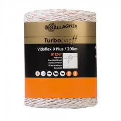 Vidoflex 9 TurboLine Plus (blanc, 200 mètre) Fil, cordon, barbelé