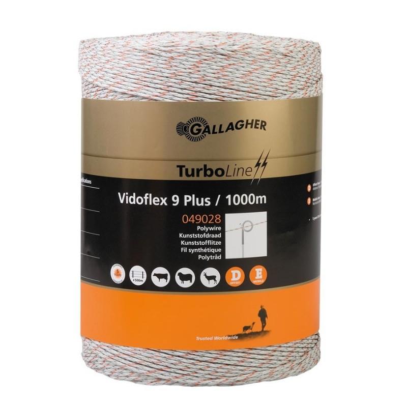Vidoflex 9 TurboLine Plus (blanc, 1000 mètre) Fil, cordon, barbelé
