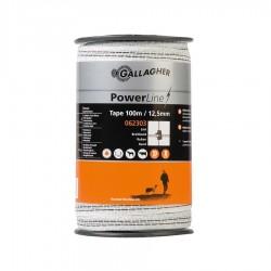 Ruban PowerLine 12,5mm (blanc, 100 mètre) Rubans clôtures électriques
