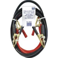 Câbles démarrage GYS 500 A - 3 m / 25 mm² - Pinces laiton Câbles et pinces