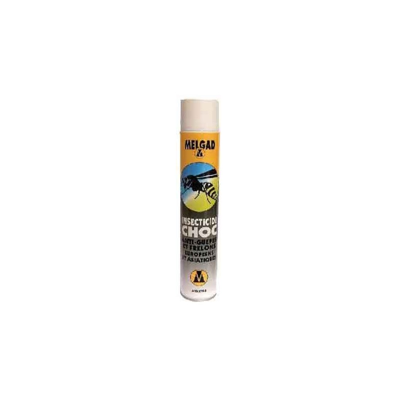 Aérosol anti-frelons insecticide choc Melgad 750ml Anti-insectes