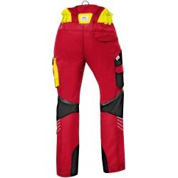 Pantalon anti-coupure Forest Kübler rouge Pantalons