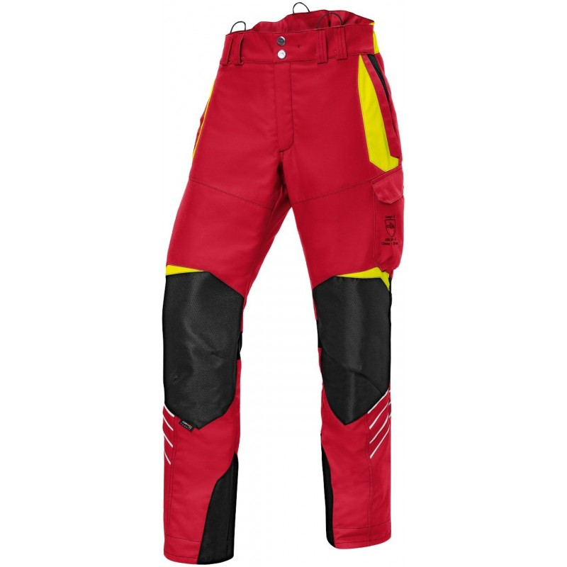 Pantalon anti-coupure Forest Kübler rouge Pantalons